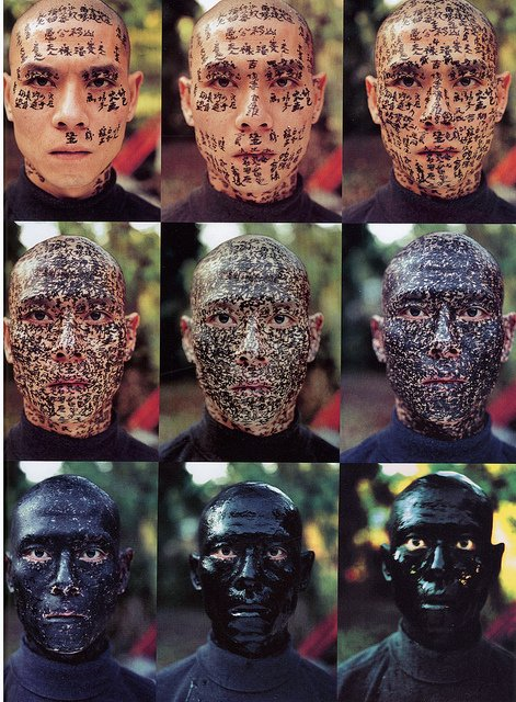 "Zhang Huan, ""Family Tree,"" 2000. 9 Chromogenic prints on Fuji archival paper Each 21 x 16 1/2 inches Ed. 13/25. Courtesy of Friedman Benda, New York"